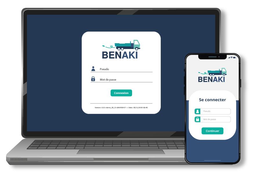 Benaki est une app responsive digitale pour gérer le collectage des déchets